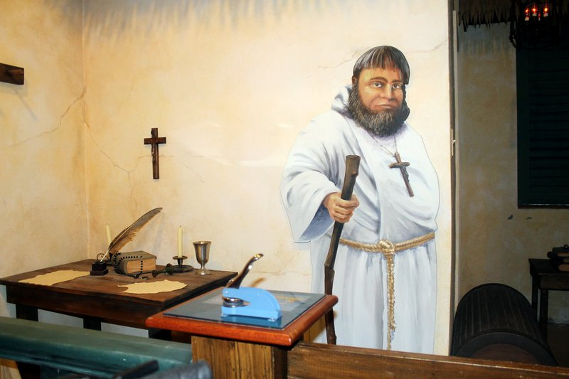 Franciscan monk (painted in the wrong color cassock)