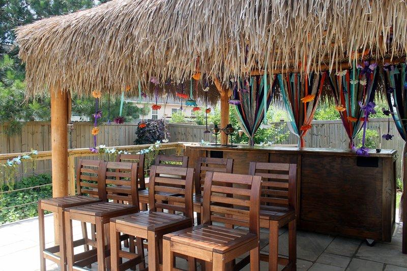Tiki hut on the deck