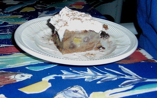 Bread pudding $4.50 for dessert.