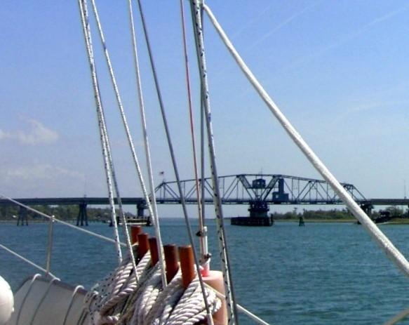 Approaching Figure 8 Swing Bridge