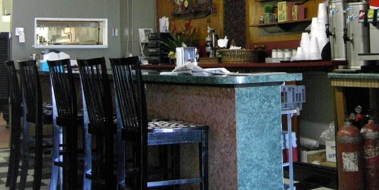Bar area inside O'Neals
