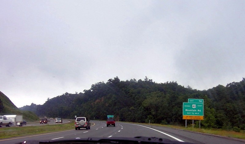 Exit US 40 east