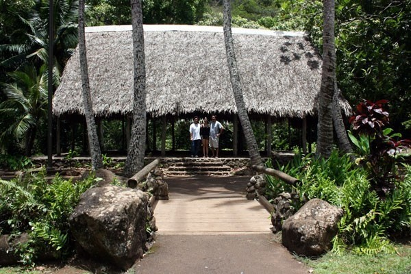 An early-Hawaiian hale (house)