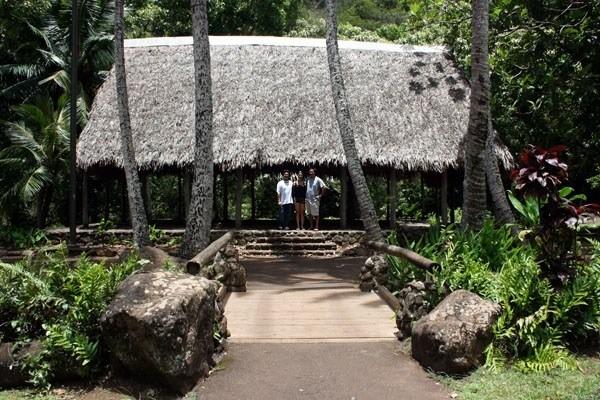An early-Hawaiian hale (house)