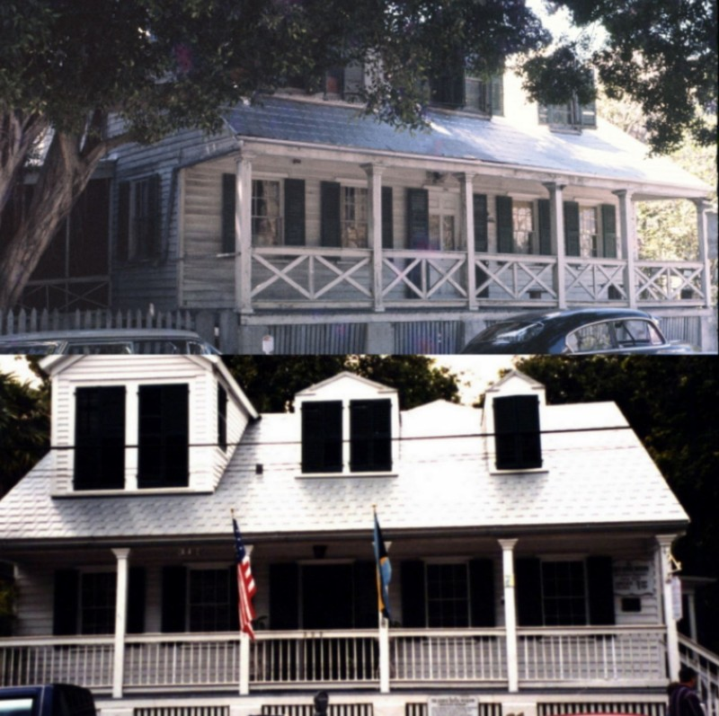 Oldest house-Then and Now