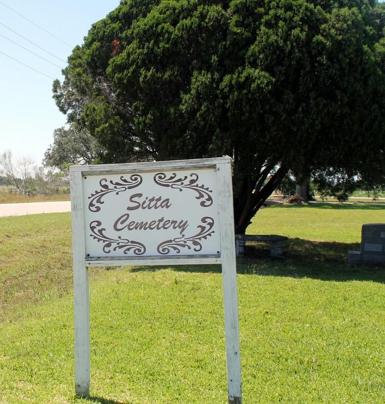 Sitta Cemetery sign
