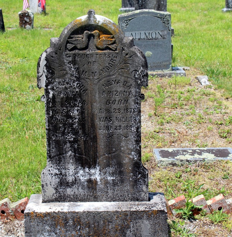 Gravestone of girl shot by her cousin