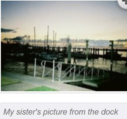 My sister's photo of the incorrect dock access