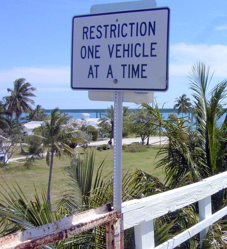 Restriction - one vehicle at a time