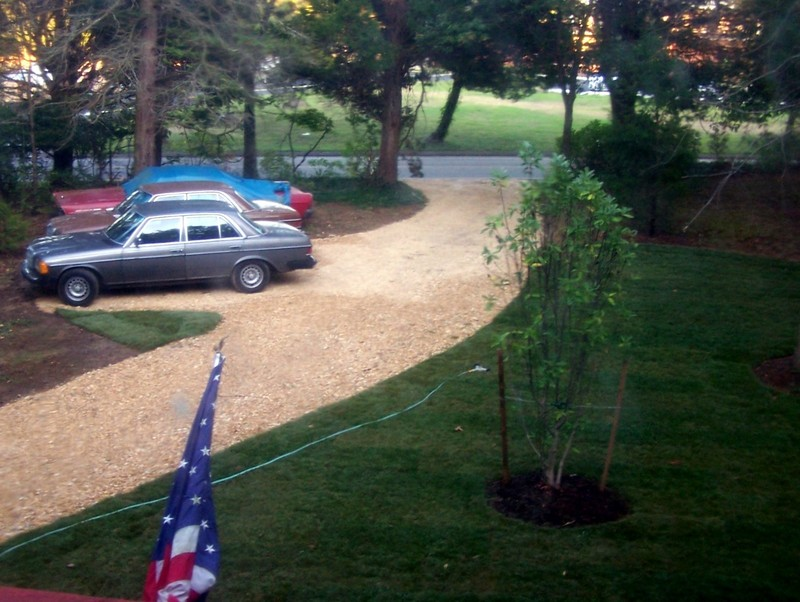 New driveway from my bedroom window