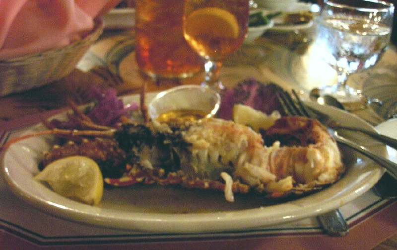 Early bird Florida lobster stuffed with crab meat for $16.95