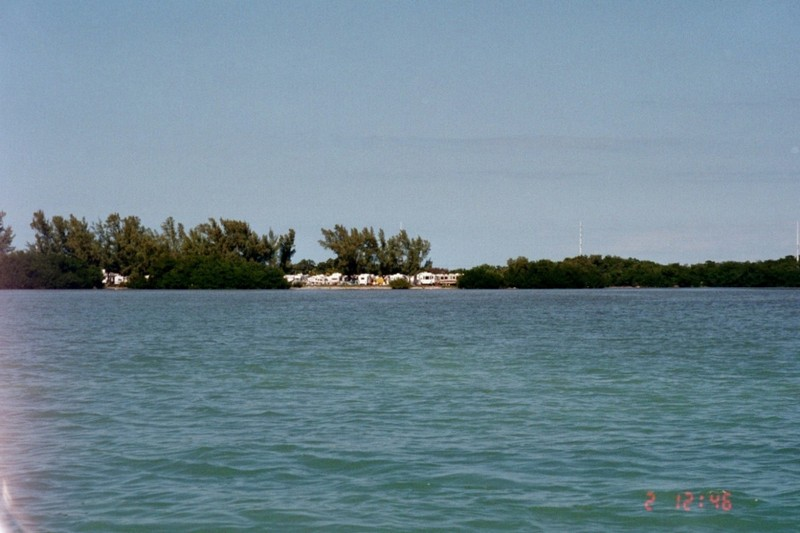 Knight Key campgrounds from our boat