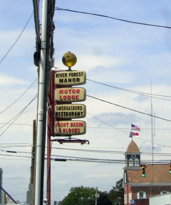 Signpost on the Main Street
