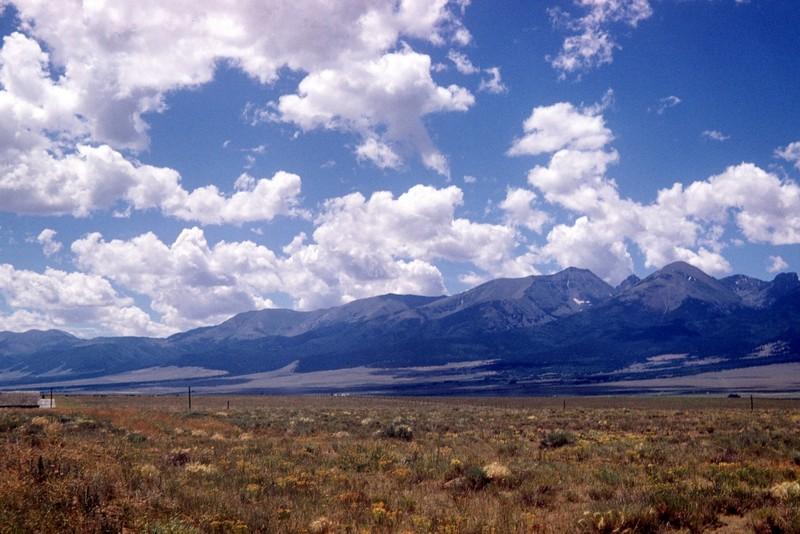 Wet Mountain Valley looking toward the Sangre de Cristos