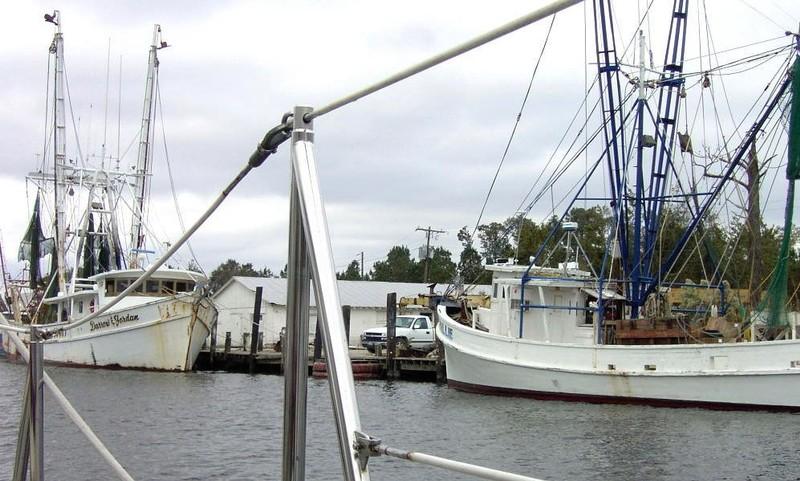 Shrimp boat docks