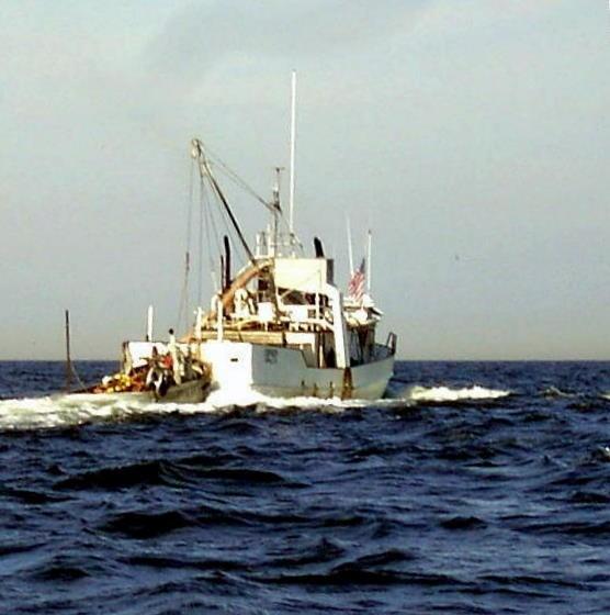 Single menhaden boat