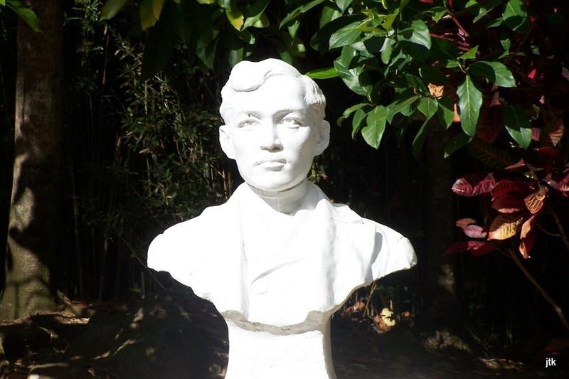 The bust immortalizing Dr. José Rizal -Filipino Exhibit