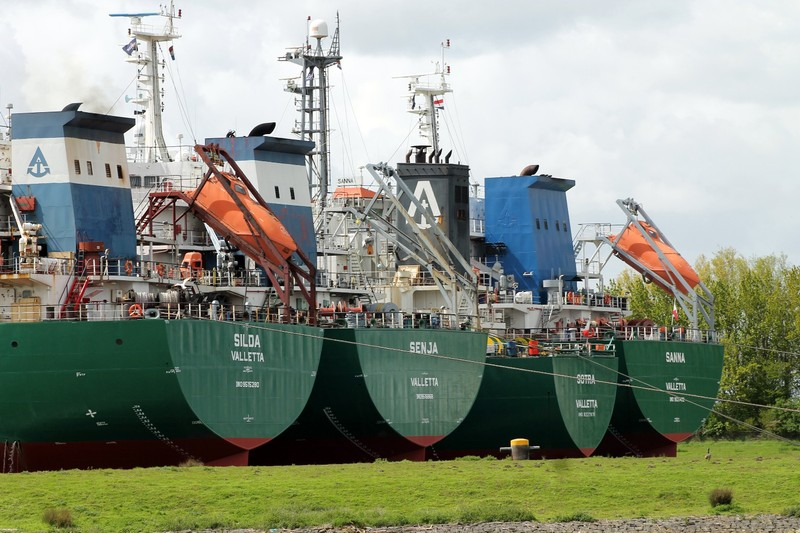 Laid up in drydock