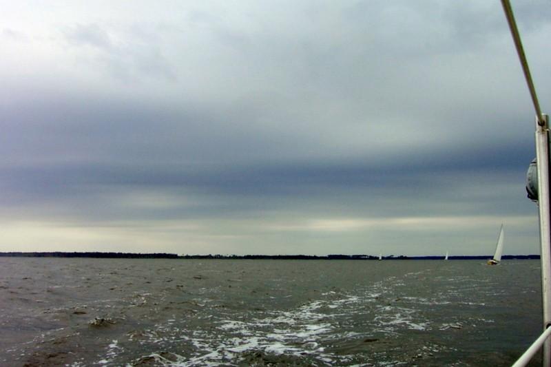 Lowering Sky and Boats behind us at 12:30