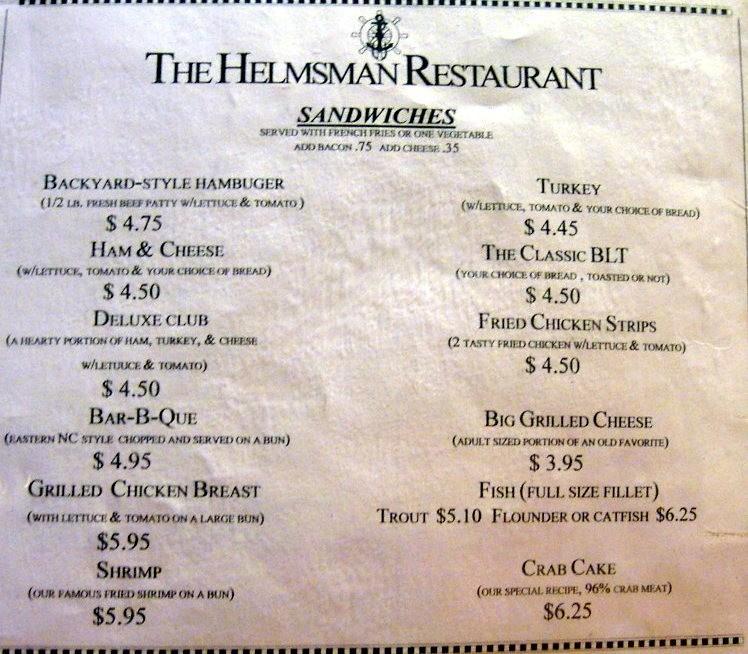 Menu of the Helmsman