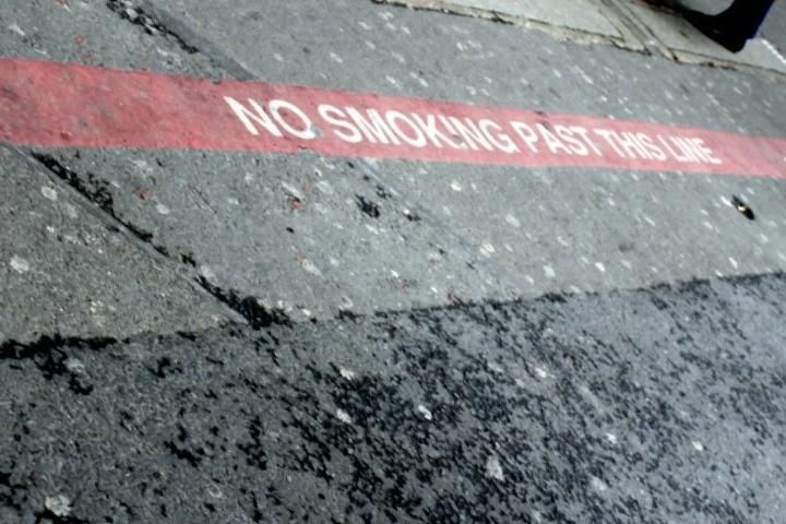 Sidewalk sign outside the station