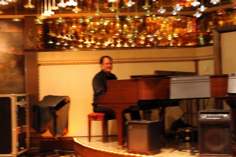 Piano player in the atrium