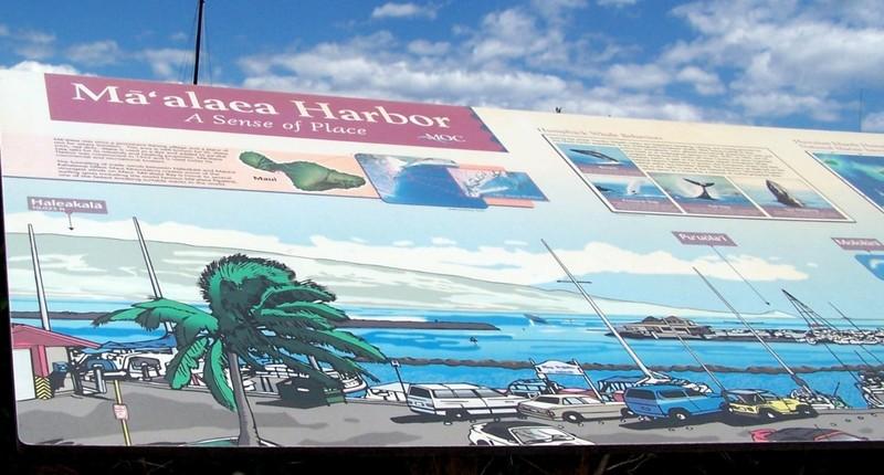 Ma'alaea Harbor sign