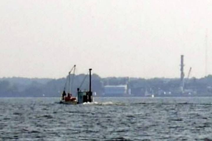 Small barge in the Wicomico