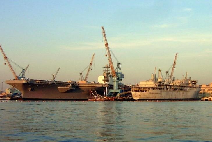 Navy Repair Yard shoreline
