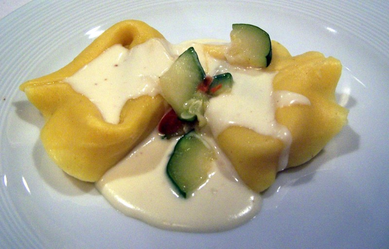 Beef and veal tortellacci appetizer