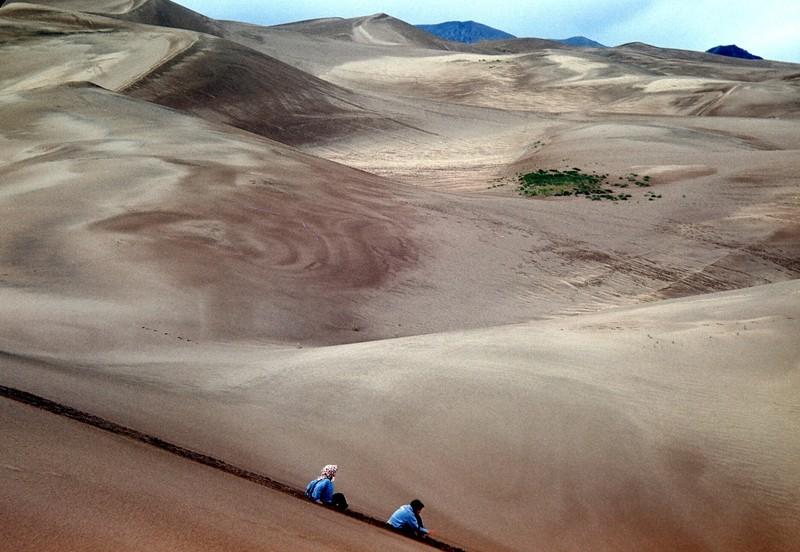Sliding down the dunes