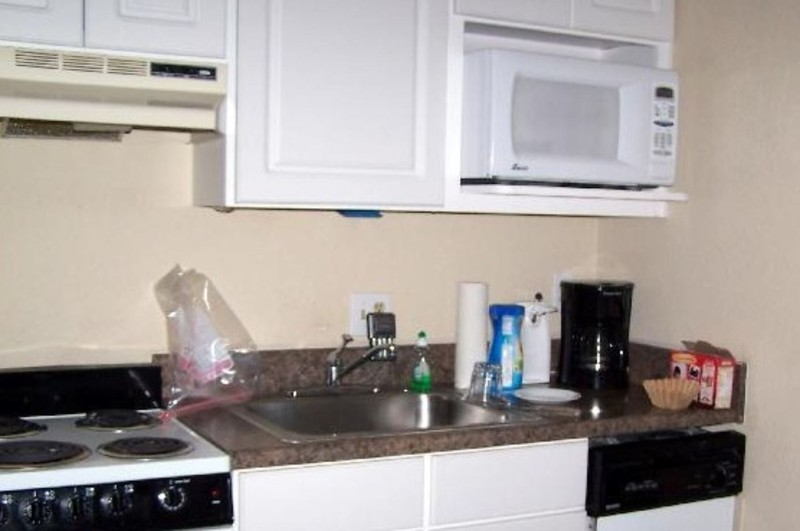 Condo kitchen - full size refrigerator on the other side