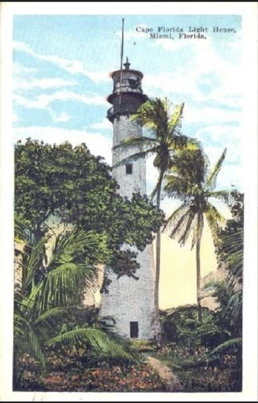 Antique postcard of the Florida Lighthouse