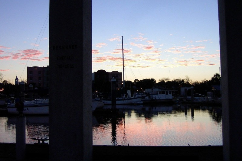 Sunrise from the marina