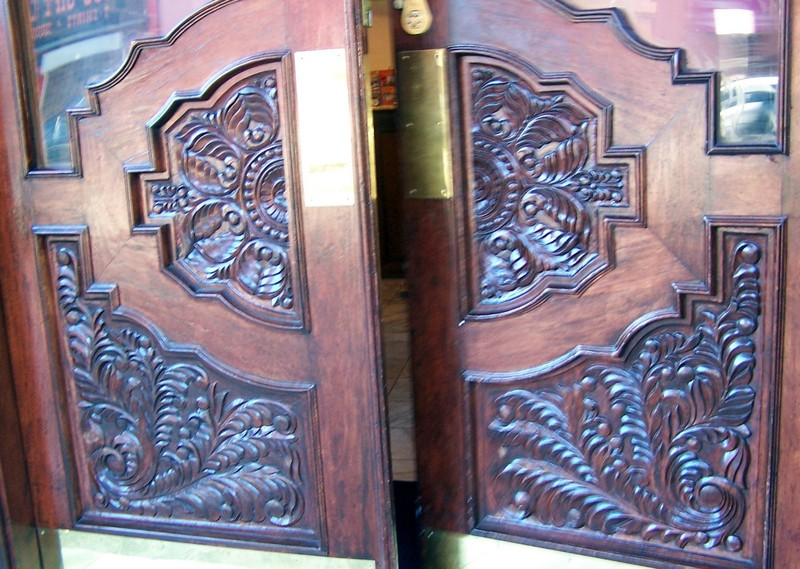 Carved front doors