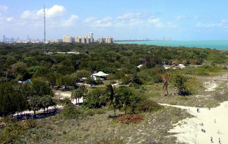 Miami skyline from the top of the lighthouse