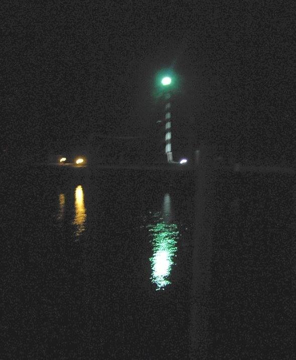 "Alligator River Marina ""Lighthouse"" at night"