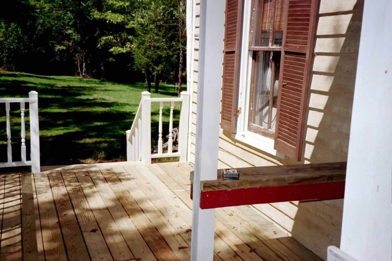 From side door to steps