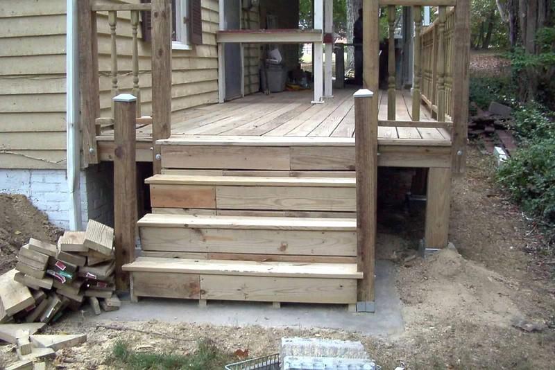 Back steps done