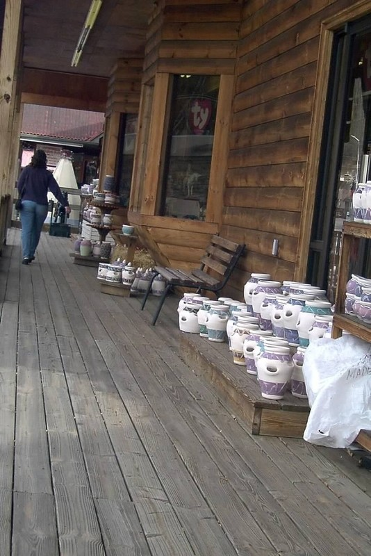 Porch of the store