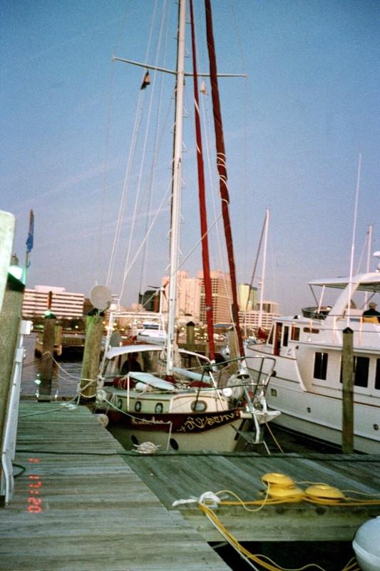 RosalieAnn at the dock in the marina