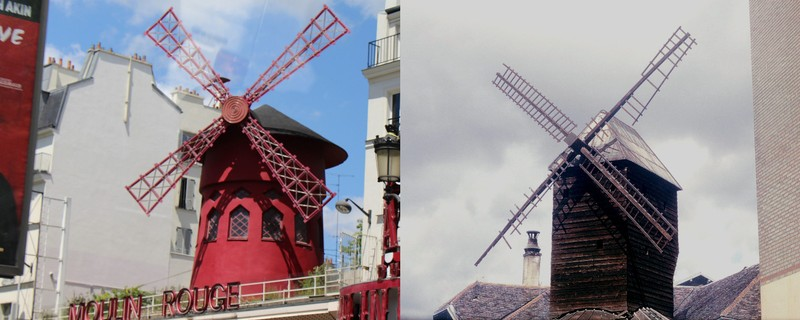 Moulin Radet and the new Moulin Rouge