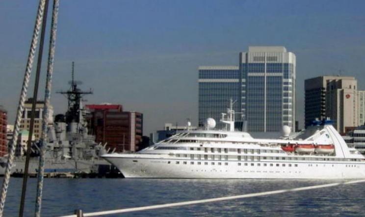 Cruise ship at the Norfolk terminal next to Nauticus