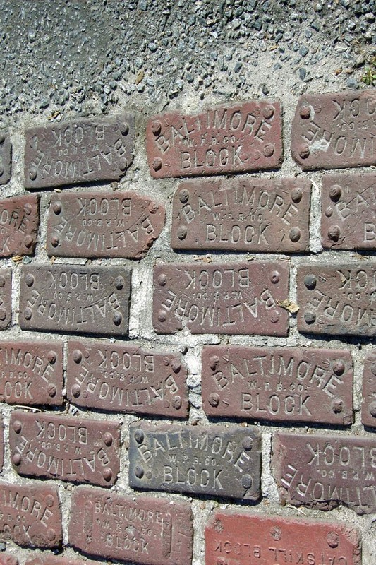 Bricks from Baltimore in the streets