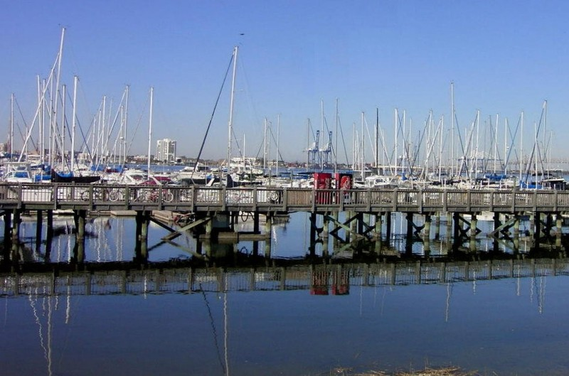Reflections in the marina