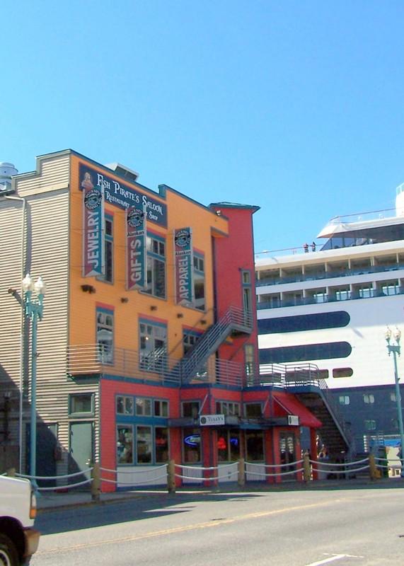 Buildings near port