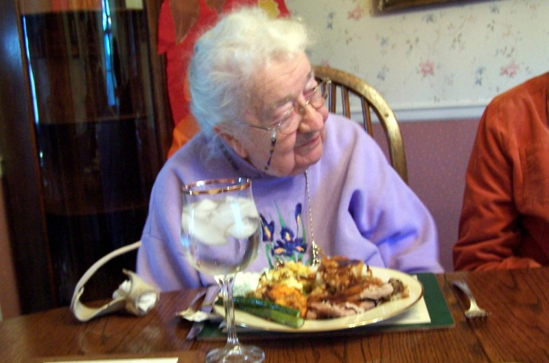 My mother (age 95) at Thanksgiving dinner