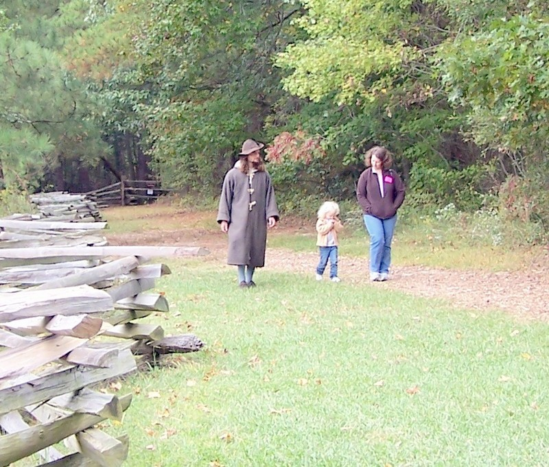 Walking with the re-enactor