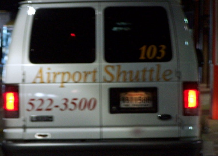 Airport shuttle van