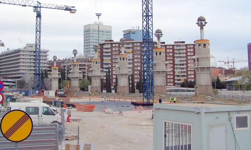 Construction around towers